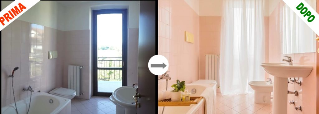 Bagno prima e dopo home staging 1024x366 - COS'È L'HOME STAGING